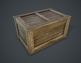 3D asset VR / AR ready Wooden Box various-models