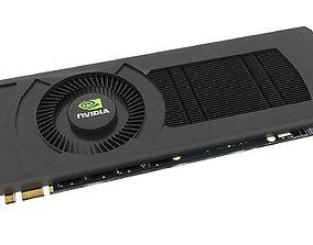 Graphic Card Nvidia detailed PCB PCI-E Display 3D model