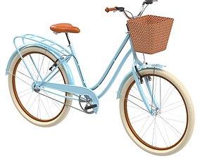 Womens Cruiser Blue Bike 3D