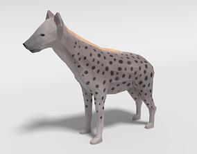 Low Poly Cartoon Hyena 3D model