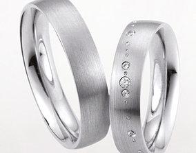 3D printable model Wedding rings 225
