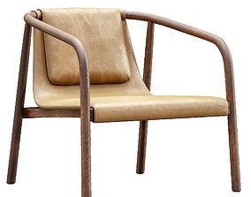 3D Bernhardt oslo lounge chair