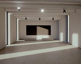 Moody Lighting Art Gallery 2019 Baked Corona Max 3D asset