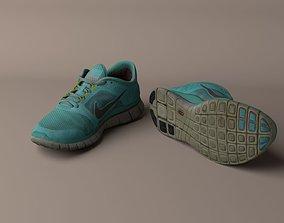 3D model Worn Nike Free Run 3 sneaker shoe