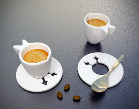 Wings Espresso Cups 2 Piece Set 3D printable model