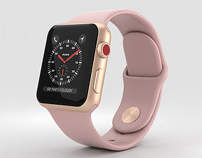 3D model Apple Watch Series 3 38mm GPS Cell Gold 3