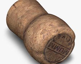Realistic Champagne cork 3D model
