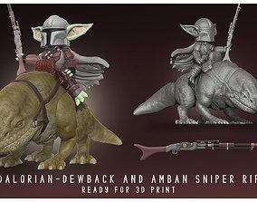 Yodalorian - Dewback - Child Mandalorian Baby Yoda 3D 1