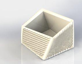 3D print model CUBIC TEXTERED PLANTER