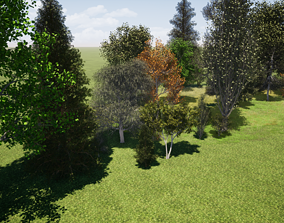 Very realistic 3d Trees collection for VR / AR ready 2