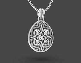 3D printable model Easter egg Pisanka pendant with Floral