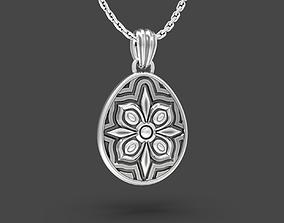 3D printable model Easter egg Pisanka pendant with 1