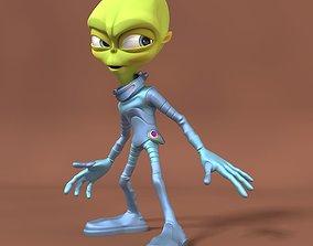 3D model rigged Cartoon Alien