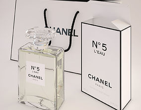 3D Chanel N5 LEau Perfume with bag