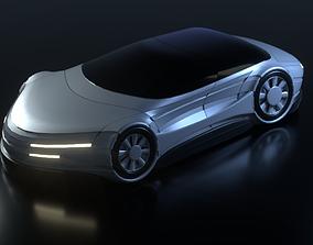 3D model Futuristic Car 21
