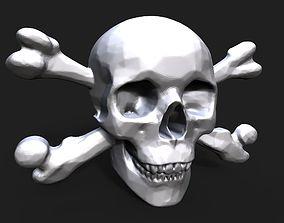3D print model Pirate skull bas relief