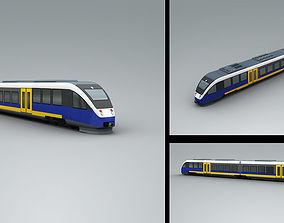 3D model Lowpoly Train 4