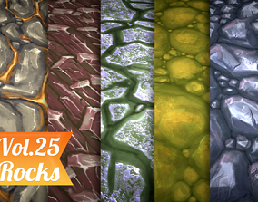 3D model Stylized Rocks Vol 25 - Hand Painted Texture Pack