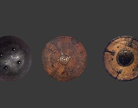 Round Medieval Shield low-poly gameready model game-ready