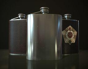 3D model PBR Hip Flask