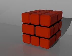 Blocks Low poly 3D asset game-ready