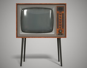 3D model VR / AR ready Vintage TV