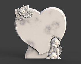 3D print model Angel Monument Tombstone