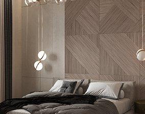 3D model Bedroom Modern Scene and Corona Render