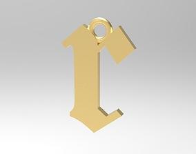 3D printable model Gothic Alphabets Little R Pendants