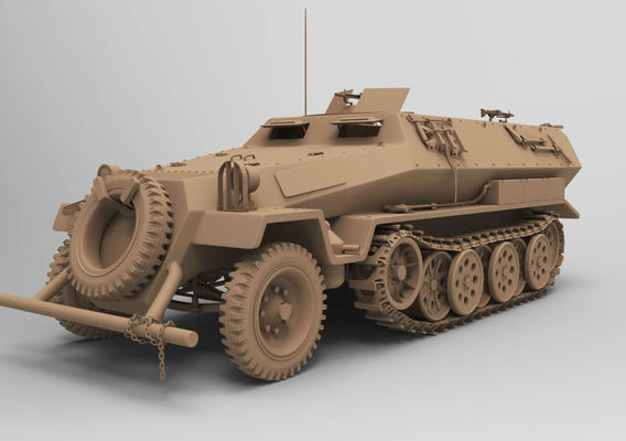 ww2 sdkfz 251 HighPoly transport Vehicle 3D model