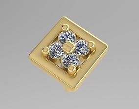 Stud Diamond Earring 1 3D print model