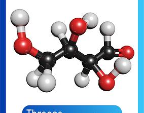 Threose 3D Model C4H8O4
