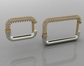 GC GOLD E061- Diamond Cartilage Earring 3D printable model