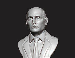3D Sculpture of Vladimir Putin 3D printable model