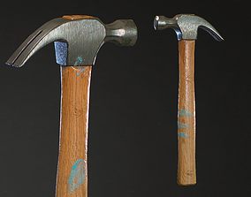 3D model game-ready blacksmith Hammer