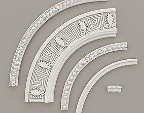 Circular Borders Decorative Gaudi Elements 3D model