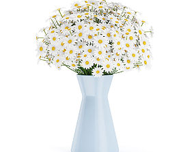 3D model Small Daisies in Blue Vase