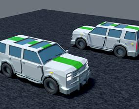 Jeep cra Low-Poly 3D asset