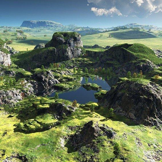 Green oasis in Vue