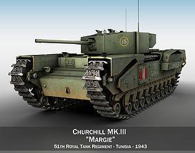 3D Churchill MK III - Margie tank
