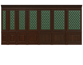 Wood panel with leather 018 3D