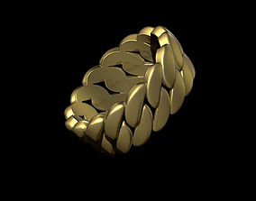 3D printable model silver Cuba Chain Ring