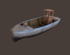 3D model VR / AR ready Fishing Boat