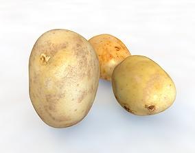 Potatoes 3D model realtime