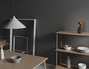 The cat ethnic statuette 3D model