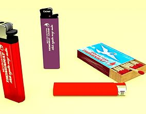 Lighters and matches 3D printable model