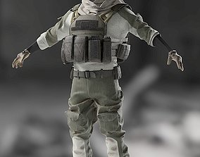 3D model SOLDIER High Poly equipment