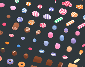 low-poly Candy Land - Animation Assets