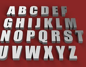 IMPACT font uppercase and lowercase 3D Letters STL FILE