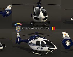3D model Eurocopter EC-135 Police